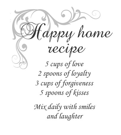 Happy home recipe XL sisustustarra, 2-värinen