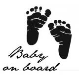 Baby on board dekor